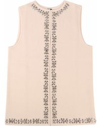 Adeela Salehjee - Basel Natural Cashmere Gilet - Lyst