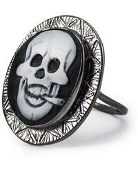 Vintouch Italy | Rocker Skull Cameo Ring | Lyst
