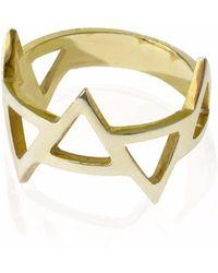 Sally Lane Jewellery   Ladder Of Life Gold Geometric Ring   Lyst