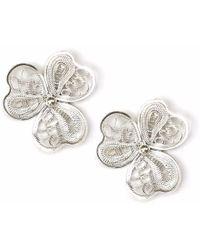 Kitik Jewelry - Tika Silver Earrings - Lyst