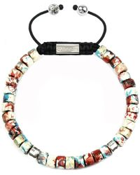 Clariste Jewelry - Men's Ceramic Bead Bracelet Red Graffiti - Lyst