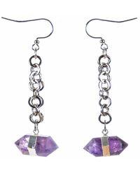 Tiana Jewel - Goddess Amethyst Earrings Siena Collection - Lyst