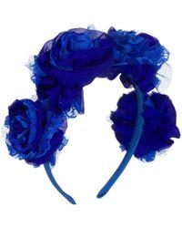 Vjera Vilicnik - Carnation Headband Blue - Lyst