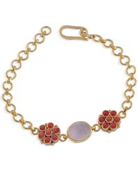 Emma Chapman Jewels | Bellina Coral & Rose Quartz Bracelet | Lyst