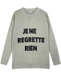 Orwell + Austen Cashmere - Je Regrette Cashmere Sweater Grey - Lyst