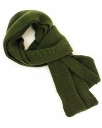 40 Colori - Military Green Solid Wool & Cashmere Scarf - Lyst
