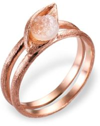 Ona Chan Jewelry - Eye Ring With Druzy Rose Gold - Lyst