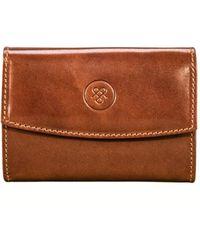 Maxwell Scott Bags - Luxury Italian Leather Small Purse Chestnut Tan - Lyst