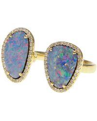 Ri Noor - Double Opal Slice Diamond Ring - Lyst