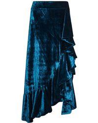 Jelena Bin Drai - Adele Velvet Skirt With Ruffles - Lyst