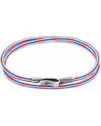 Anchor & Crew | Project-rwb Red White & Blue Liverpool Silver & Rope Bracelet | Lyst
