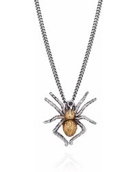 Yasmin Everley - Gilded Spider Necklace - Lyst