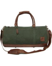 MAHI - Leather Classic Duffle Overnight/gym Bag In Green Canvas - Lyst