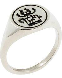 No 13 - Sami Reindeer Signet Ring – Silver - Lyst