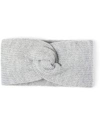 Alma Knitwear - Kirke Merino Earwarmer Light Grey - Lyst