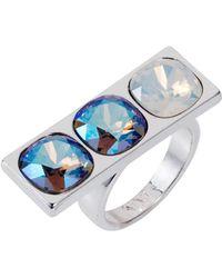 Nadia Minkoff - Three Stone Ring Blue Shimmer - Lyst