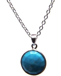 Puck Wanderlust - Turquoise Silver December Birthday Charm Necklace - Lyst