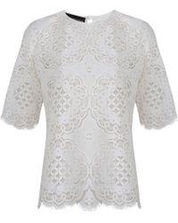 Jelena Bin Drai - Spanish Lace Top In White - Lyst
