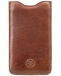 Maxwell Scott Bags - Luxury Tan Leather Iphone 6 Sleeve The Gruppo - Lyst