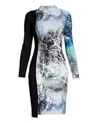 Rumour London - Whimsy Jersey Print Dress - Lyst
