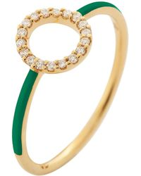 Eshvi - Moon Green Ring - Lyst