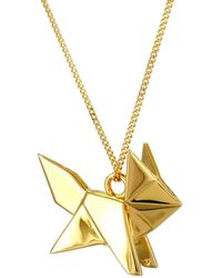 Origami Jewellery - Fox Necklace Gold - Lyst