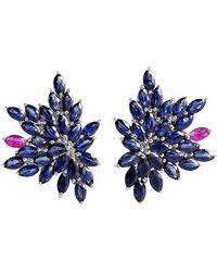 Joana Salazar - Blue Blossom Petite Earings - Lyst