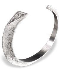 Ona Chan Jewelry - Dagger Cuff With Swarovski Crystals Silver - Lyst