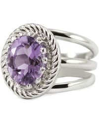 Vintouch Italy - Luccichio Amethyst Spiral Ring - Lyst