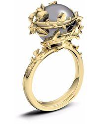 Kasun - Dark Grey Pearl Ring - Lyst