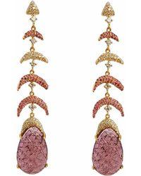 Ri Noor - Carved Tourmaline Earrings - Lyst