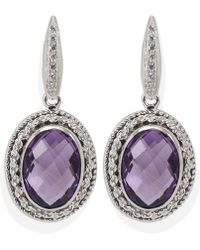 Vintouch Italy - Minerva Amethyst Earrings - Lyst