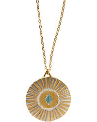 Bark - Gold Sunburst Necklace - Lyst