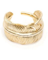 Serge Denimes - Gold Feather Ring - Lyst
