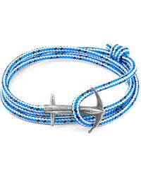 Anchor & Crew - Blue Great Yarmouth Silver & Rope Bracelet - Lyst