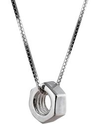Edge Only - Heart Pendant Silver - Lyst