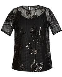 Jelena Bin Drai - Sequin Embellished Top - Lyst