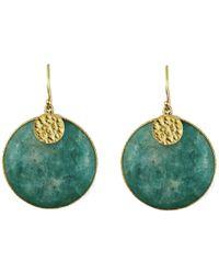 Carousel Jewels - Amazonite Disc Earrings - Lyst