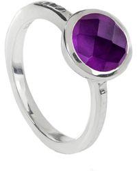 Neola - Estella Sterling Silver Stacking Ring Amethyst - Lyst