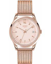 Henry London - Ladies 39mm Shoreditch Stainless Steel Bracelet Watch - Lyst