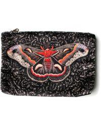 Arlette Ess   Giant Silk Moth Velvet Clutch Bag Samia Cecropia   Lyst