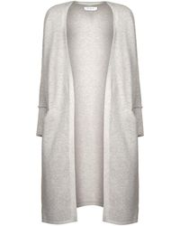 Paisie - Light Grey Ribbed Cardigan - Lyst