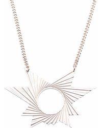 Mademoiselle Felee - Barcelona Engraved Star Estrella Necklace Silver - Lyst
