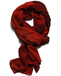lords of harlech - Patchwork Camo Scarf In Red - Lyst