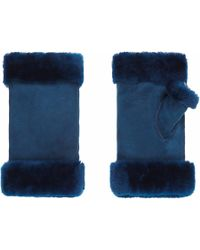 Gushlow and Cole | Electric Blue Fingerless Mittens | Lyst