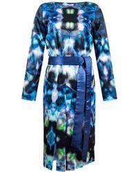 Funlayo Deri - Adona Print Midi Dress - Lyst