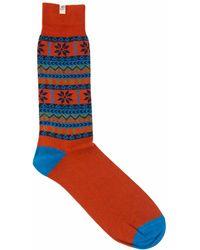 40 Colori - Rust Norwegian Organic Cotton Socks - Lyst