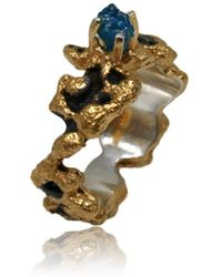 Karolina Bik Jewellery - Out Of The Sea Ring With Raw Apatit - Lyst