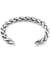 Anchor & Crew - Genoa Sail Silver Chain Bangle - Lyst