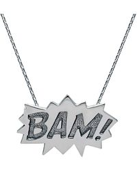Edge Only - Bam Pendant Large Long In Silver - Lyst